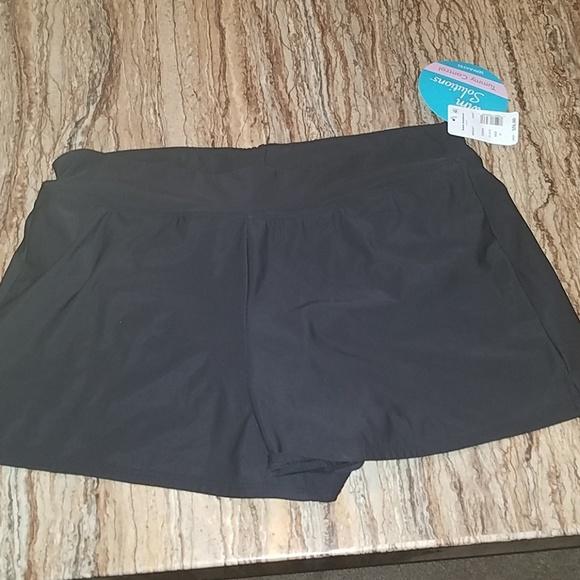 3a3e435ae3e0c Swim Solutions tummy control swimsuit shorts